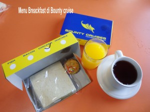 Menu breackfast bounty