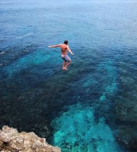 blue lagon cliff jam