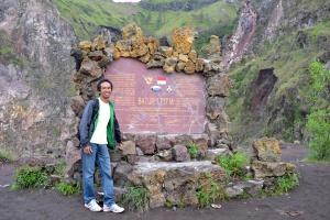 monumen ketinggian gunung Batur